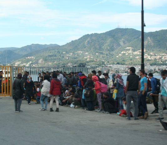 Flüchtlinge in Mytilini auf Lesbos im Juni 2015.