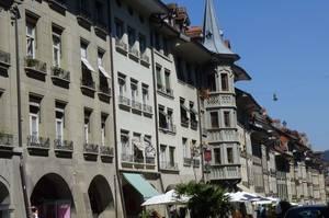 Berner Hausfassadenreihe mit Bogengängen. © Foto: Dr. Bernd Kregel