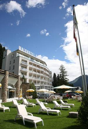 Das Waldhotel in Davos. © WELTEXPRESS, Foto: Elke Backert