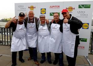 Die fünf männlichen Finalisten für den Grill-Wettbewerb 2014. © Foto: Elke Backert, 2014