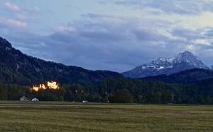 Abendstimmung bei Schwangau. © Foto: Rainer Hamberger