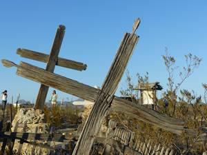 Grabkreuze der Geisterstadt Terlingua. Foto: © 2016, Dr. Bernd Kregel