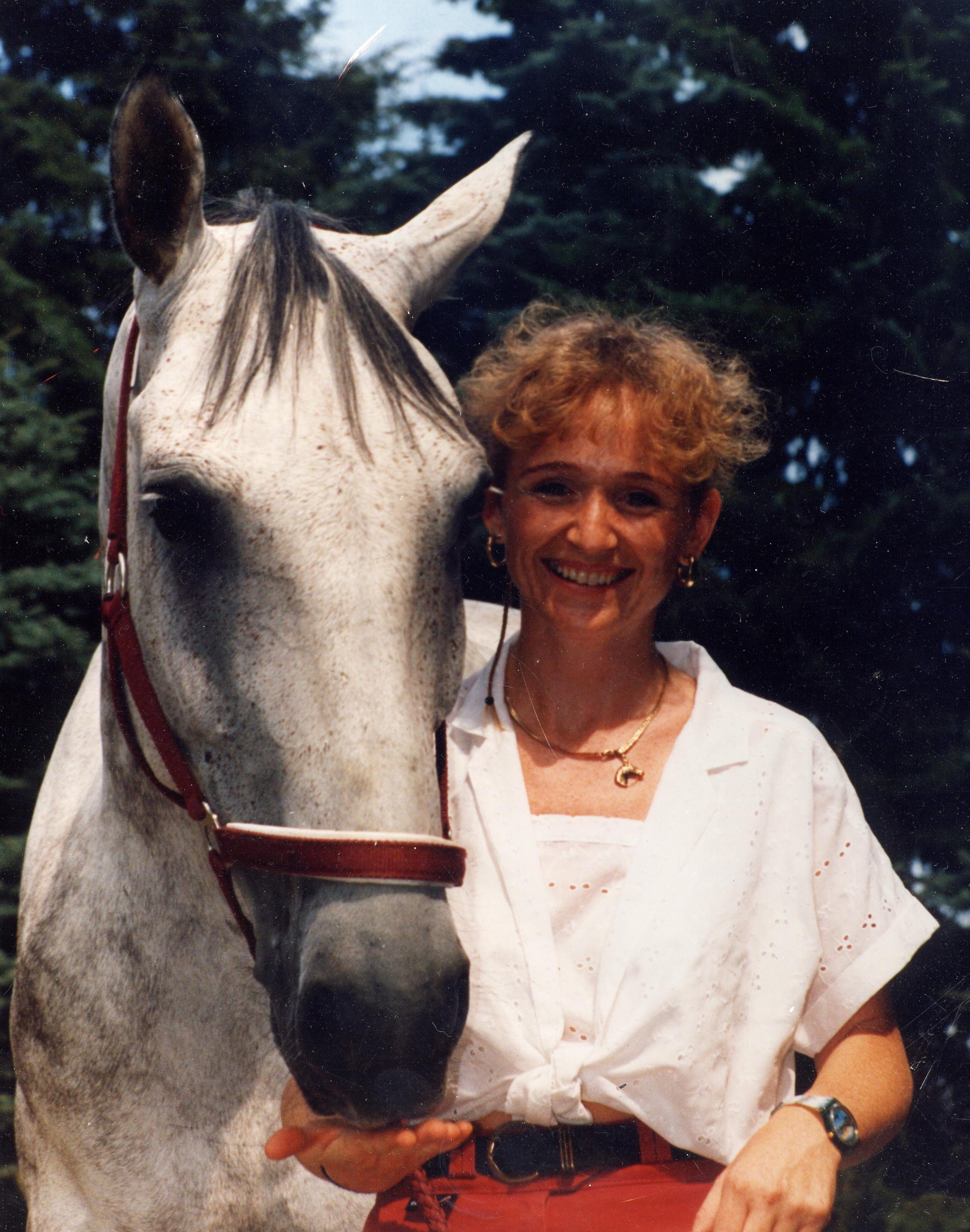 """Als ich """"Wotan"""" 3 Jahre alt war, lernte ich eine junge Frau kennen, die sich anscheinend spontan in mich verliebte, und..... 1995 © Heike Veit"""