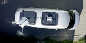 Mercedes-Benz Vision Van aus der Drohnenperspektive. © Daimler