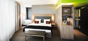 Ein Zimmer im Mövenpick Hotel Stuttgart Airport und Messe. © Mövenpick Hotels und Resorts