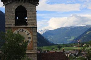 Blick vom Schloß Bruneck. © 2015, Foto: Eva-Maria Becker