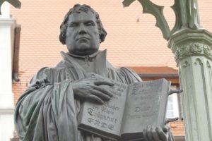 Das Lutherdenkmal in Wittenberg. © 2017, Foto: Bernd Kregel
