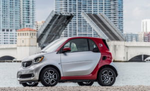 Smart Fortwo Electric Drive, Miami 2016, Stromverbrauch kombiniert: 12,9 kWh/100km; CO2-Emissionen kombiniert: 0 g/km © Smart