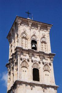 Turm der Lazarus-Kirche in Larnaca. © 2017, BU und Foto: Dr. Bernd Kregel