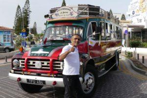Ausflugsbus in Larnaca. © 2017, BU und Foto: Dr. Bernd Kregel
