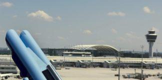 Der Flughafen bei München.