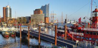 Hamburg an der Elbe.