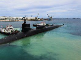 U-Boot der USA im Kriegshafen auf Guam.