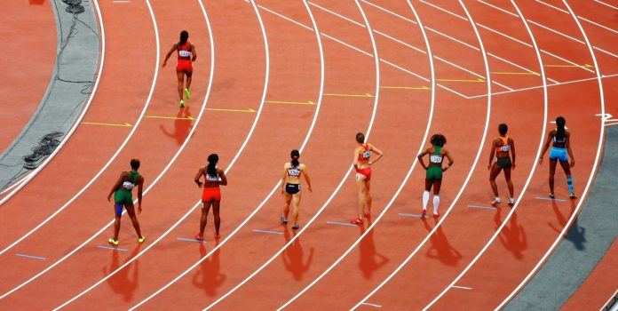 Leichtathletik. Laufen von Frauen.