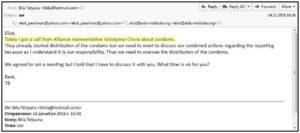 Die E-Mails des Eliot J. Perlman. Quelle: CyberBerkut