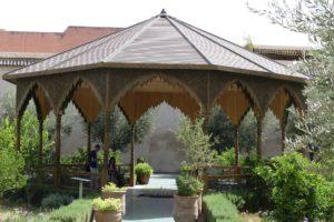 """Pavillon im """"Geheimen Garten"""" in Marrakesch. © 2017, Foto: Dr. Bernd Kregel"""