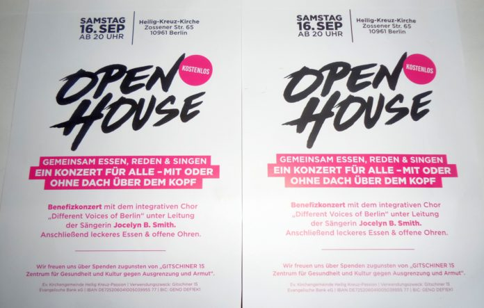 Open House - Benefizkonzert in Berlin