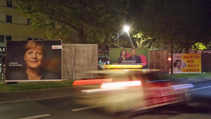 Wahlplakate in Berlin.