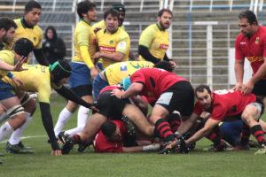 Rugby-Länderspiel in Leipzig zwischen Deutschland–Brasilien 45:12 (26:0). 11. November 2017. © 2017, Foto/BU: Frank Eckert