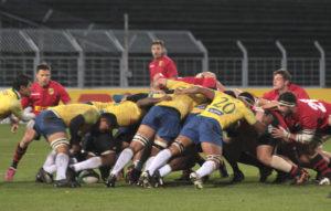 Rugby-Länderspiel in Leipzig zwischen Deutschland–Brasilien 45:12 (26:0), © 2017, Foto/BU: Frank Eckert