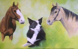 Die drei Lieblinge von Christina M. aus Hessen, 70x40, gemalt Dez. 2016. © 2016, Foto/BU: Maren Ziegenfuß