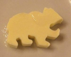 Ein Bär aus Butter im Gasthaus Zum Roten Bären.