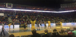 Basketball mit der Begegnung Berlin gegen Jena am 23. Dezember 2017.