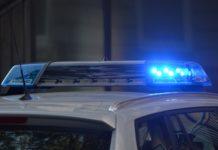 Polizei mit Blaulicht.