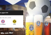 DFB-Pokal mit der Begegnung FC Bayern vesus BVB.