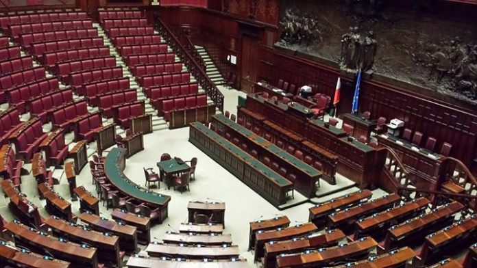 Der Plenarsaal im Palazzo Montecitorio.