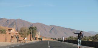 Tramper in Marocco