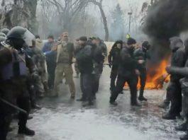 Krawall in Kiew.