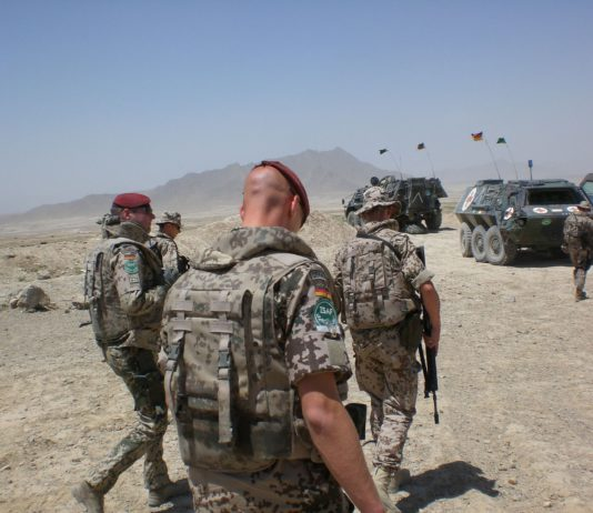 Bundeswehrsoldaten im Einsatz.