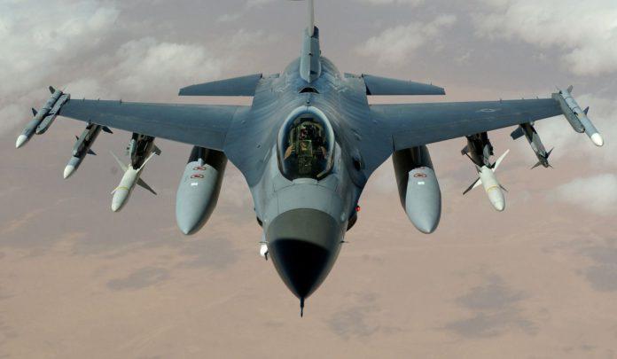 Kriegsflugzeug der USA.