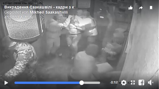 Festnahme von Michail Saakaschwili am 12. Februar 2018 in Kiew.