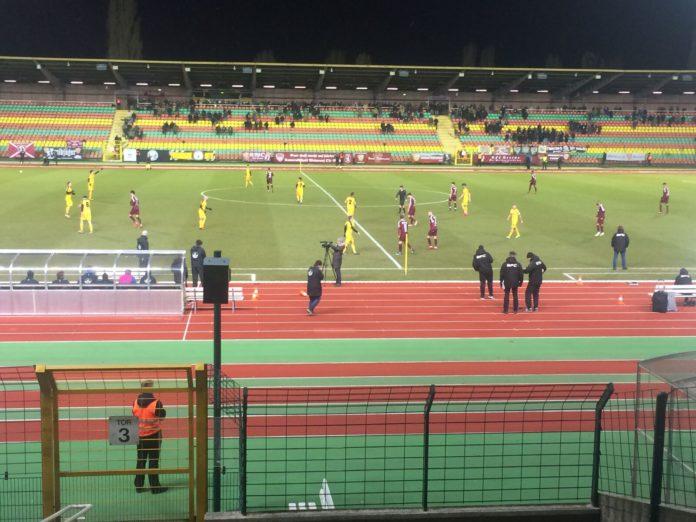 Szene im Spiel des BFV Dynamo gegen den VfB Auerbach im Berliner Jahnstadion.