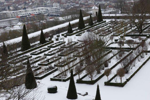Der Burggarten der Willibaldsburg in Eichstätt..