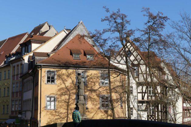 Blick von der alten Rathausbrücke Bamberg.