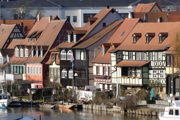 Flussarchitektur in Bamberg.