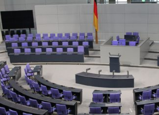 Bundestag im Reichstag in Berlin.