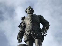 Francis Drake in Plymouth.