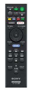 Die Fernbedienung für den Sony UBP-X1000ES.