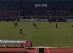 Ein Punktspiel zwischen dem BFC Dynamo und dem VfB Germania Halberstadt im Berliner Jahnsportstadion.