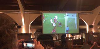 Tor für den FC Bayern München in Sevilla.