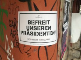 """Befreit unseren Präsidenten!"" Carles Puigdemont."