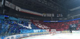 Eisbären Berlin versus Rote Bullen München am 15. April 2018 in Berlin.