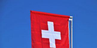 Flagge der Schweiz.