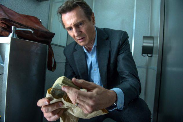 "Szene aus ""The Commuter"" mit Liam Neeson."