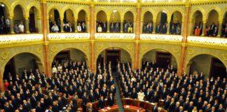 Das ungarische Parlament in Budapest.