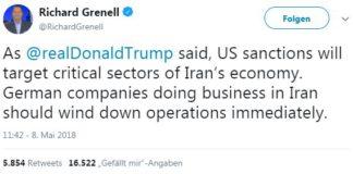 US-Botschafter Richard Grenell erteilt Wirtschafts-Bossen in der BRD Befehle.